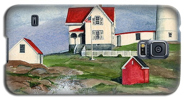 Cape Neddic Lighthouse  Galaxy S5 Case by Nancy Patterson