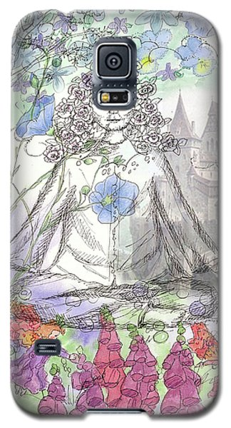 Galaxy S5 Case featuring the painting Celestial Castle by Cathie Richardson