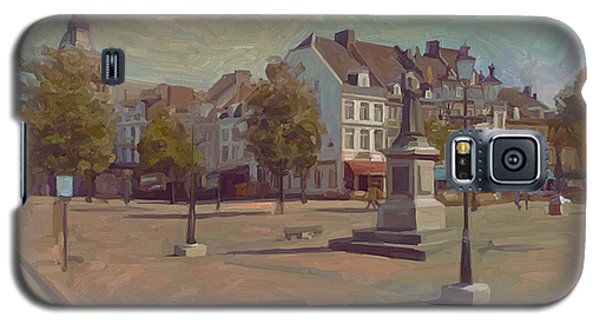 Galaxy S5 Case featuring the painting Corner Bosch Street And Market Maastricht by Nop Briex
