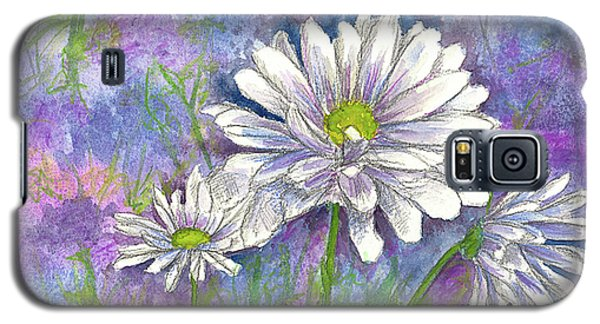 Galaxy S5 Case featuring the painting Daisy Three by Cathie Richardson