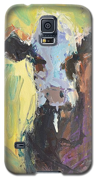 Galaxy S5 Case featuring the painting Expressive Cow Artwork by Robert Joyner