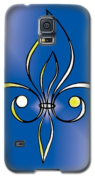Fleur De Lis In Gold Galaxy S5 Case