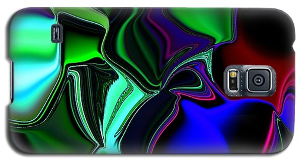 Green Nite Distortions 4 Galaxy S5 Case
