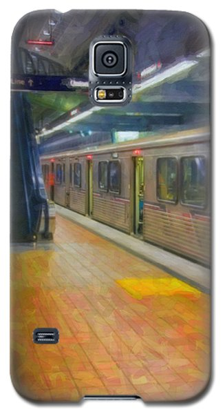 Galaxy S5 Case featuring the photograph Hollywood Subway Station by David Zanzinger