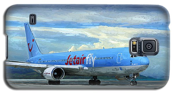 Galaxy S5 Case featuring the painting Jetairfly Boeing 767 In Costa Rica by Nop Briex