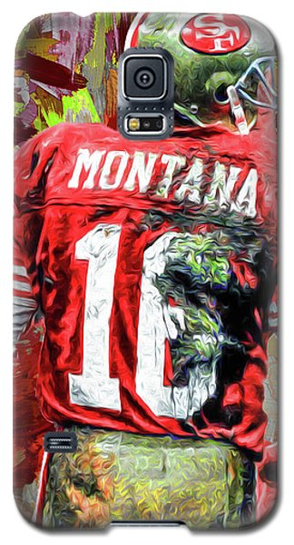 Joe Montana Football Digital Fantasy Painting San Francisco 49ers Galaxy S5 Case