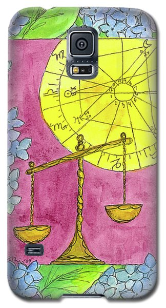Galaxy S5 Case featuring the painting Libra by Cathie Richardson