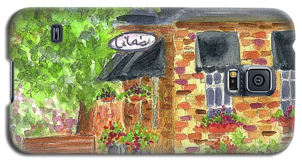 Galaxy S5 Case featuring the painting Lila's Cafe by Cathie Richardson