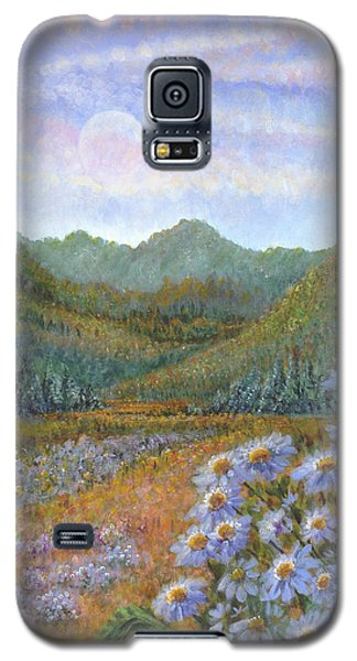Mountains And Asters Galaxy S5 Case