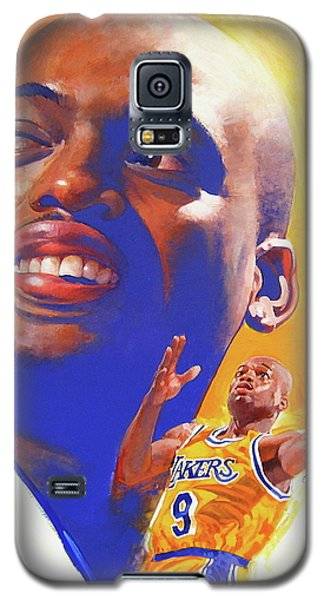 Galaxy S5 Case featuring the painting Nick Van Exel by Cliff Spohn