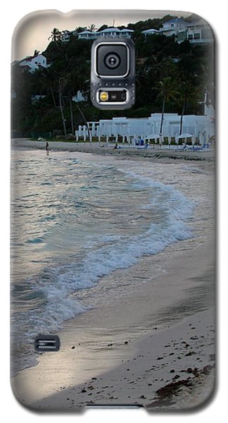 Galaxy S5 Case featuring the photograph Peaceful Evening On Dawn Beach by Margaret Bobb