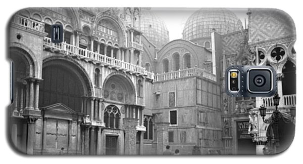 Galaxy S5 Case featuring the photograph San Marco Piazza And Basilica In Venice by Emanuel Tanjala