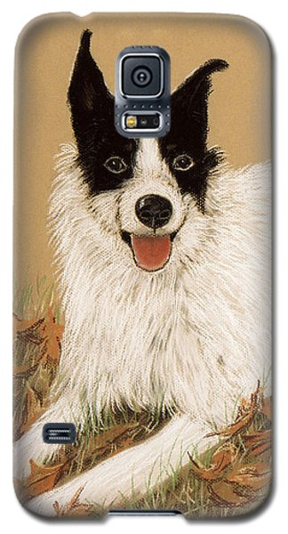 Galaxy S5 Case featuring the pastel Scooter The Jack Russell by Jan Amiss