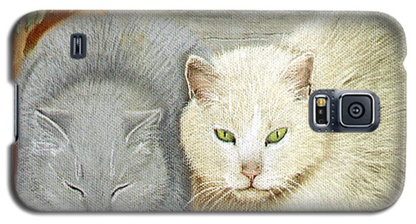 Galaxy S5 Case featuring the pastel Soft And Fluffy by Jan Amiss