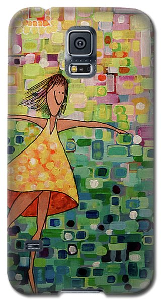 Galaxy S5 Case featuring the painting Spinning by Donna Howard