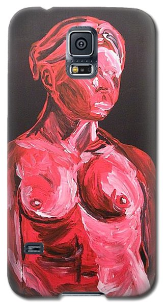 Standing Nude In Red Galaxy S5 Case