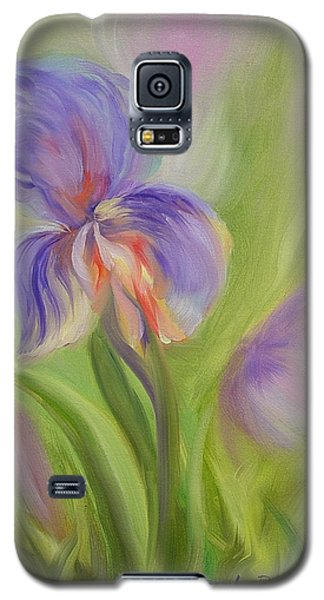 Galaxy S5 Case featuring the painting Tennessee Iris Two by Carol Berning