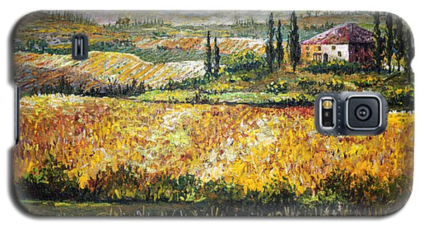 Galaxy S5 Case featuring the painting Tuscan Wheat by Lou Ann Bagnall