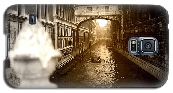 Galaxy S5 Case featuring the photograph Venice Canal With Sunlight by Emanuel Tanjala