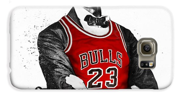 Sears Tower Galaxy S6 Case - Abe Lincoln In A Michael Jordan Chicago Bulls Jersey by Rolyo