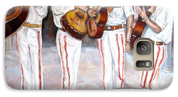 Galaxy Case featuring the painting Mariachi  Musicians by Carole Spandau