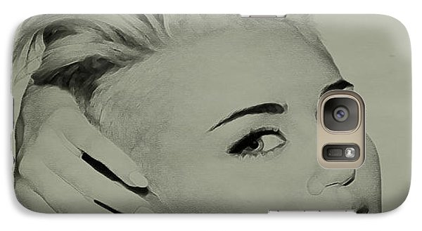 Galaxy Case featuring the drawing Miley Cyrus  by Brian Reaves
