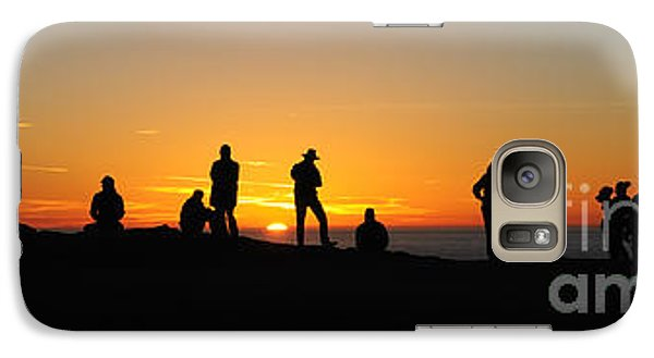 Galaxy Case featuring the photograph Panorama Everyone Likes A Sunset by Vivian Christopher