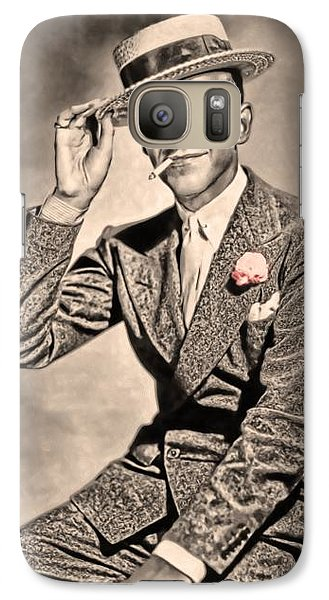 Galaxy Case featuring the painting Young Mr.astaire by Tyler Robbins