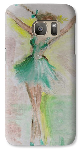 Galaxy Case featuring the painting Dance by Laurie L