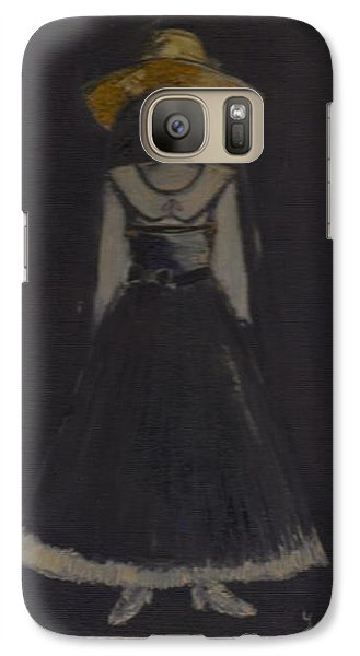 Galaxy Case featuring the painting Just A Beautiful Country Girl... by Laurie L