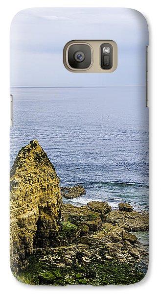 Galaxy Case featuring the photograph Pointe Du Hoc by Marta Cavazos-Hernandez