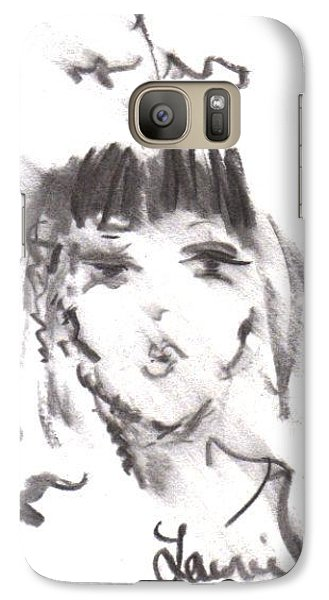 Galaxy Case featuring the drawing Queen Of Kisses by Laurie L