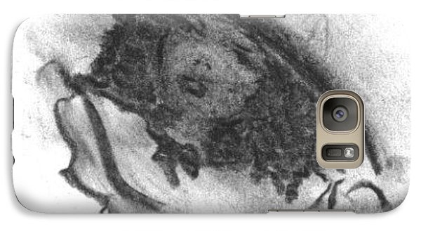 Galaxy Case featuring the drawing Shades Of Sunday by Laurie L