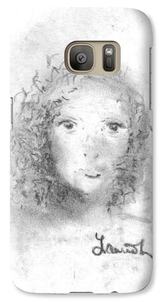 Galaxy Case featuring the drawing Something About Mary by Laurie L