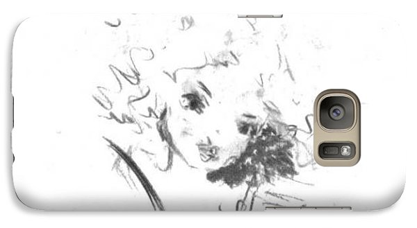 Galaxy Case featuring the drawing Just Country by Laurie L