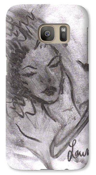Galaxy Case featuring the drawing Story Of My Heart by Laurie L