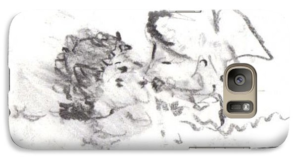 Galaxy Case featuring the drawing Timeless Love by Laurie L