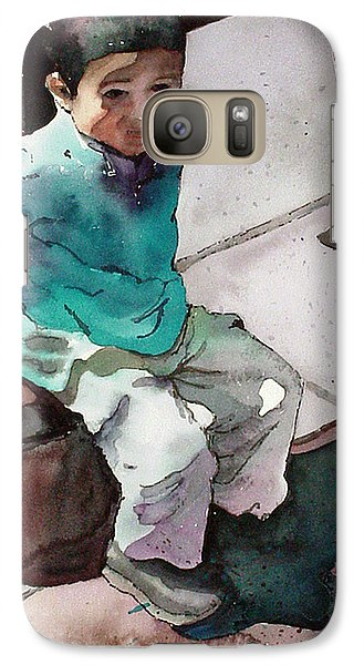 Galaxy Case featuring the painting Andrew by Yolanda Koh