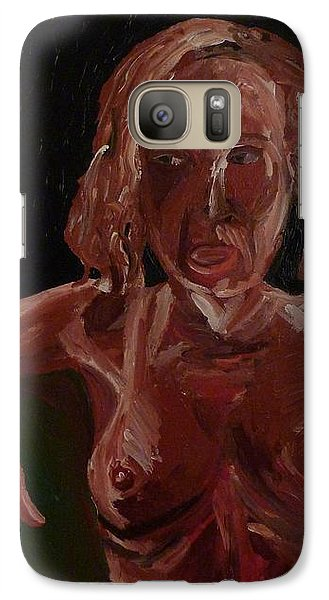 Galaxy Case featuring the painting Seated Nude by Joshua Redman