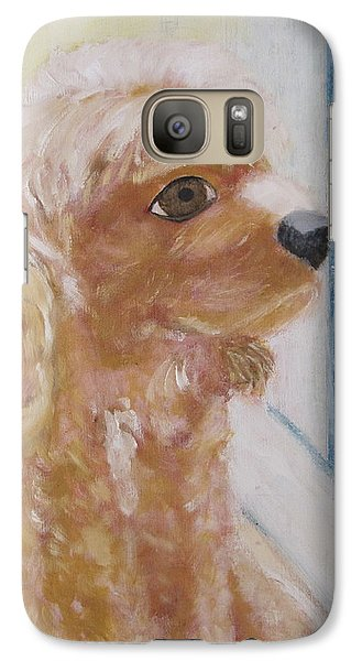 Galaxy Case featuring the painting Rusty Aka Digger Dog by Patricia Cleasby