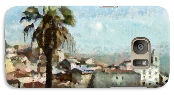 Galaxy Case featuring the painting Lisbon by Dariusz Gudowicz