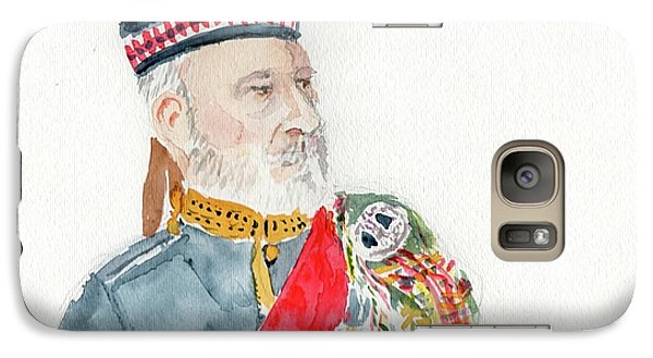 Galaxy Case featuring the painting A Scottish Soldier by Yoshiko Mishina
