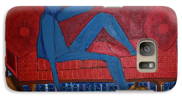 Galaxy Case featuring the painting Am I Blue by Donna Howard