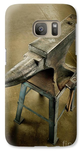 Galaxy Case featuring the photograph Anvil And Hammer by YoPedro