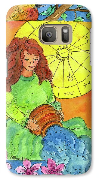 Galaxy Case featuring the painting Aquarius by Cathie Richardson