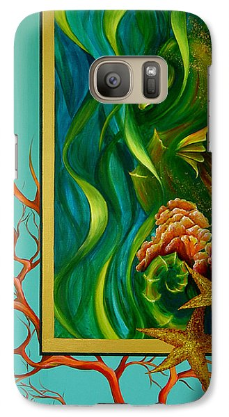 Galaxy Case featuring the painting Aquatica by Dina Dargo
