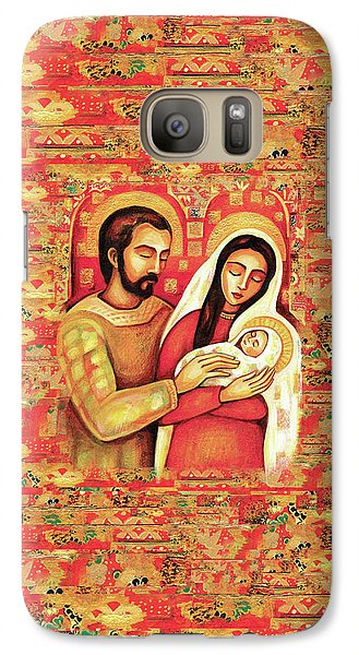 Galaxy S7 Case featuring the painting Holy Family by Eva Campbell