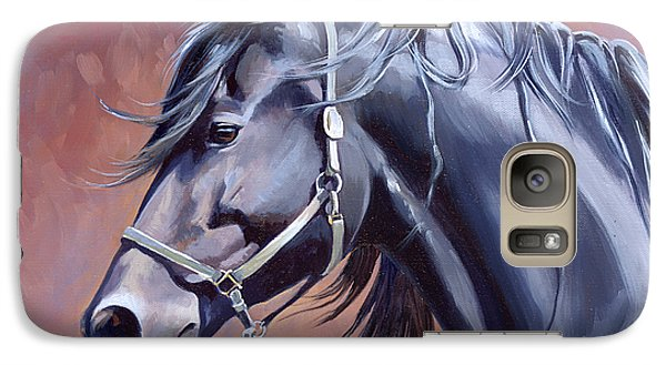 Galaxy Case featuring the painting Bente by Alecia Underhill