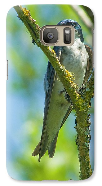 Galaxy Case featuring the photograph Bird In Tree by Rod Wiens