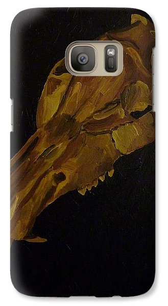 Galaxy Case featuring the painting Boar's Skull No. 3 by Joshua Redman